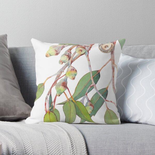 Australian native eucalyptus tree branch Throw Pillow