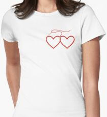 Stitched Hearts Women's Fitted T-Shirt