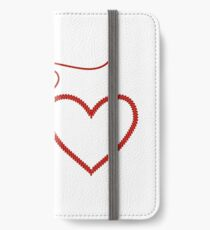 Stitched Hearts iPhone Wallet/Case/Skin
