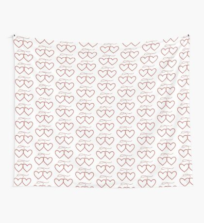 Stitched Hearts Wall Tapestry