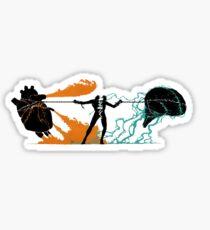 Brain vs Heart Sticker