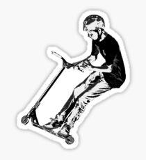 Mid-Air Turn - Stunt Scooter Move Sticker