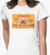 Train Crossing Sign, From Lisbon T-Shirt