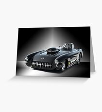 1957 Corvette 'Competition Style' Greeting Card