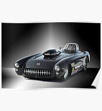 1957 Corvette 'Competition Style' Poster