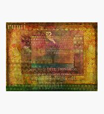 Rumi Love quote Photographic Print