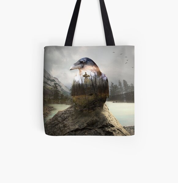 Raven's spirit All Over Print Tote Bag