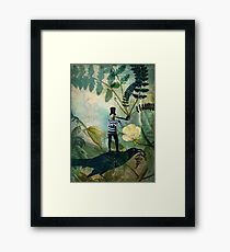 The man under the fern tree Framed Print