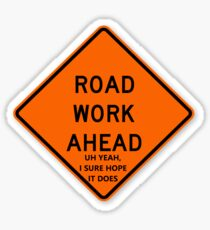 Road Work Ahead Vine Sticker