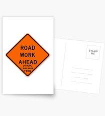 Postales El trabajo del camino a continuación Vine