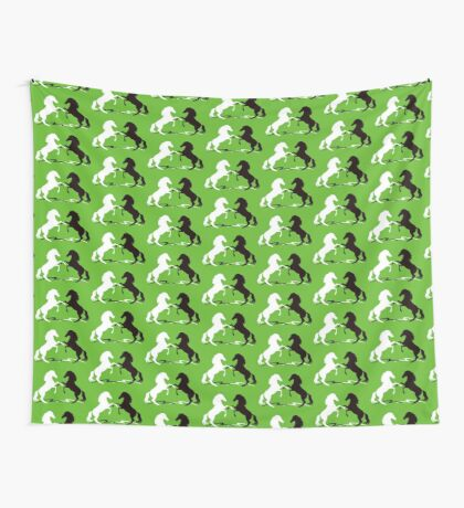 Two horses Wall Tapestry