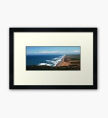 Sea and Land Framed Print