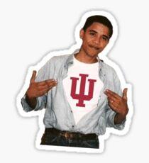 Obama Indiana University Sticker