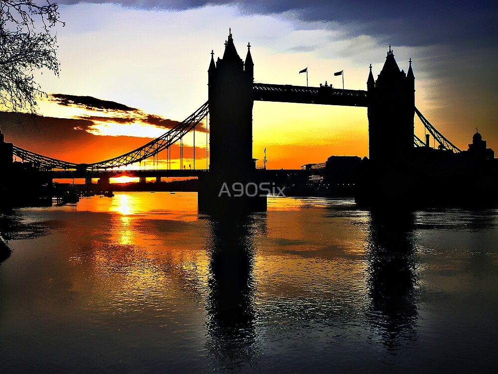 Tower Bridge Sunrise by A90Six