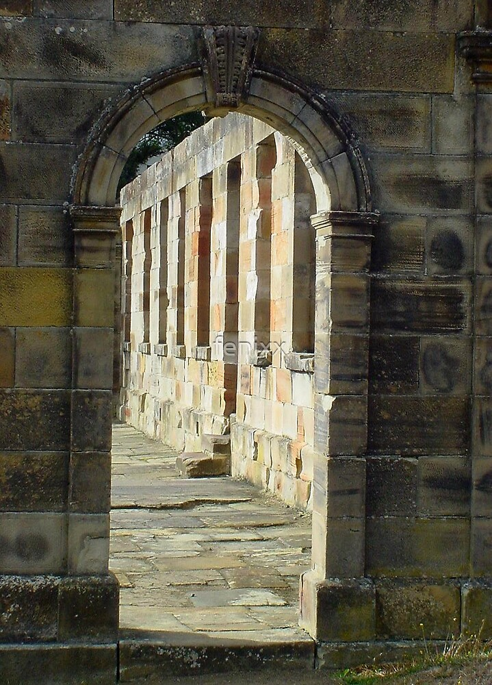 An archway at Port Arthur, Tasmania's most famous convict ruins by fenixx