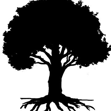 Well Rooted, Black Version by sketchbooksage