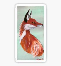 Red Sly Fox Sticker