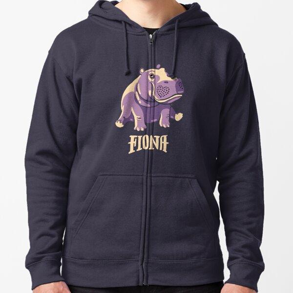 Fiona The Hippo Shirt #TeamFiona Merch, Cute Baby Hippo  Zipped Hoodie