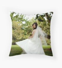 Dancing Bride Throw Pillow