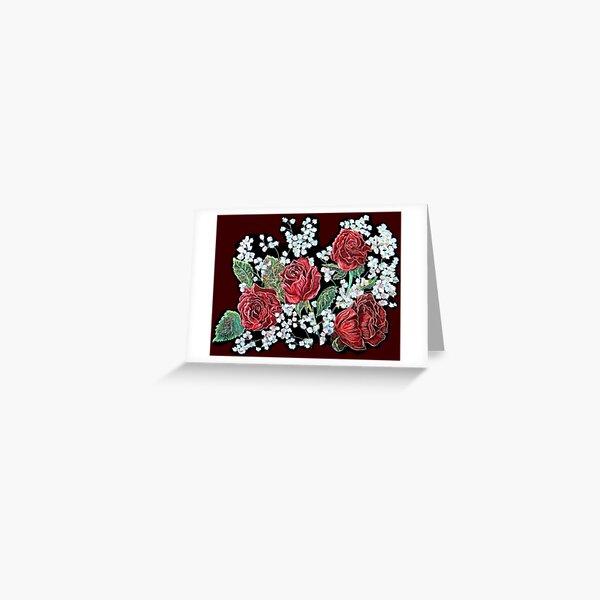 Spanish Roses Greeting Card