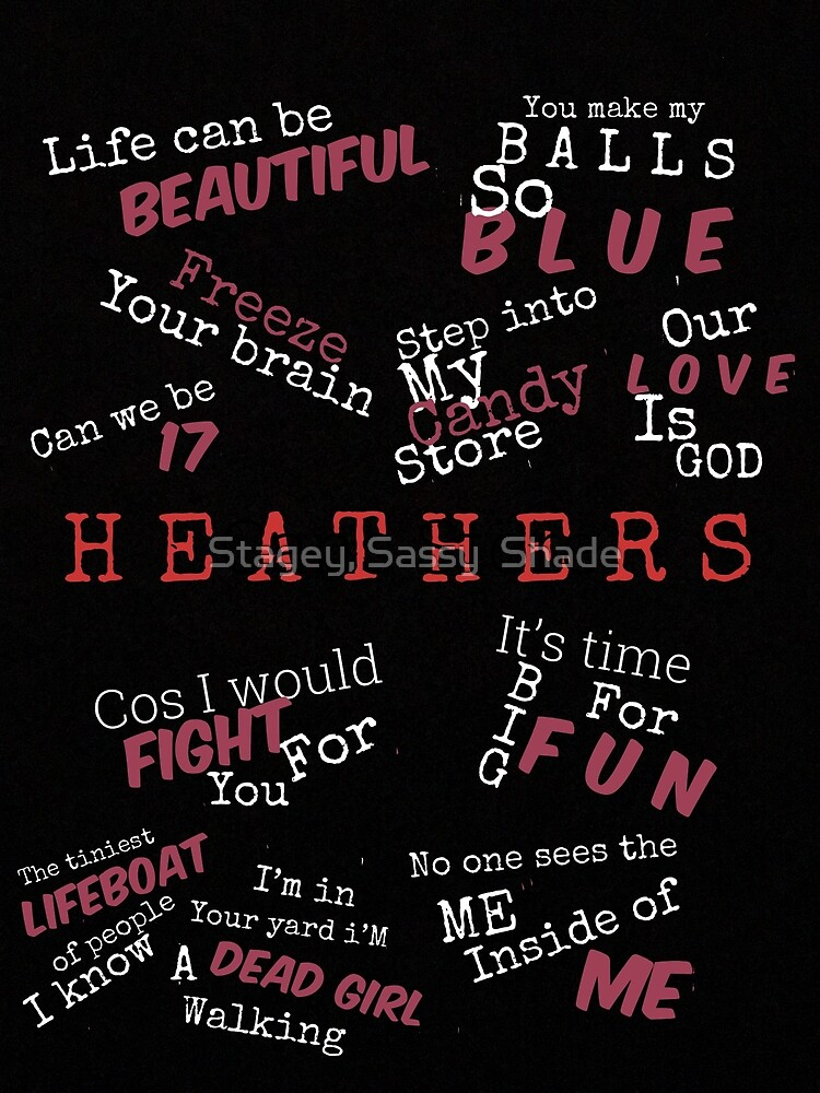 Heathers Musical Quotes Greeting Card By Leadingmanchris Redbubble