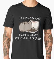 I are programmer I make computer beep boop beep beep boop coder black shirt mug Men's Premium T-Shirt