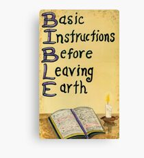 Meaning Of The Bible Canvas Print