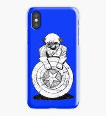 Pugs Love Comics Too - Captain Pug iPhone Case/Skin