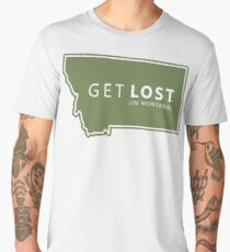 Get Lost in Montana MT State Decal Men's Premium T-Shirt