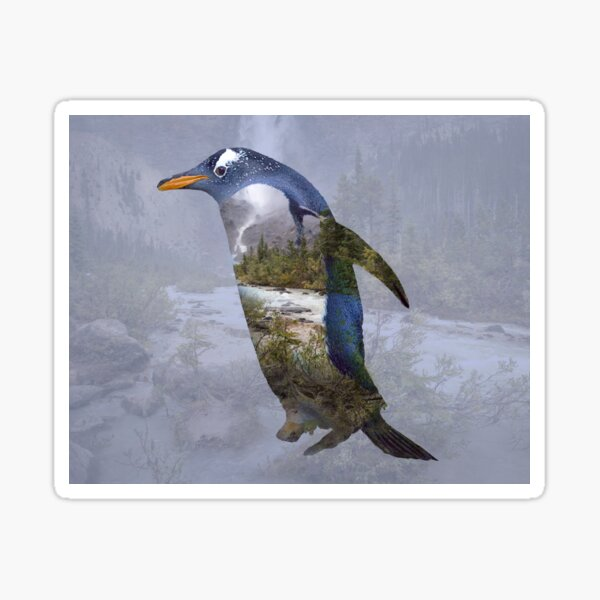 Penguin ponders Sticker