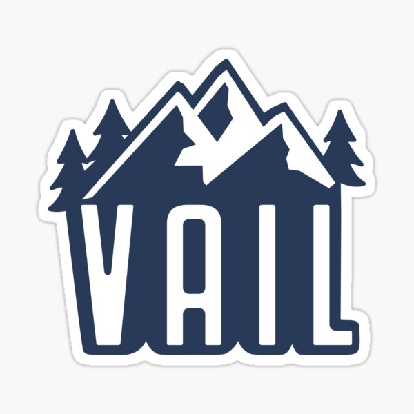 Vail, CO Mountains Sticker