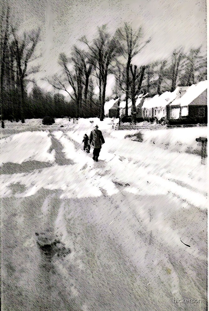 Snow Day Long Ago by hickerson