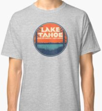 Lake Tahoe California Nevada Vintage State Travel Decal Classic T-Shirt