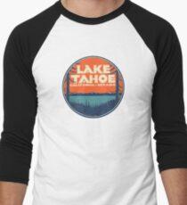Lake Tahoe California Nevada Vintage State Travel Decal Men's Baseball ¾ T-Shirt