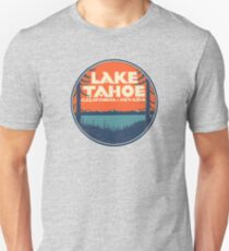 Lake Tahoe California Nevada Vintage State Travel Decal Unisex T-Shirt
