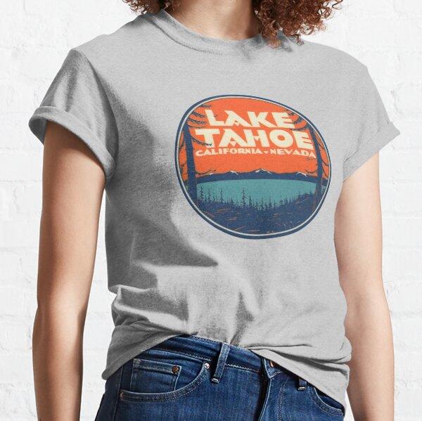 Lake Tahoe California Nevada Vintage State Travel Decal Classic T-Shirt