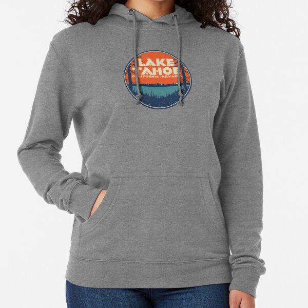 Lake Tahoe California Nevada Vintage State Travel Decal Lightweight Hoodie