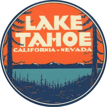 Lake Tahoe California Nevada Vintage State Travel Decal de hilda74
