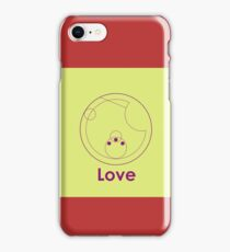 """Love"" -- Gallifreyan (Green x Purple) iPhone Case/Skin"