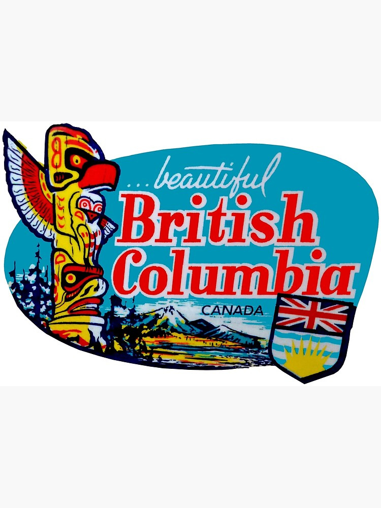 Beautiful British Columbia BC Vintage Travel Decal by hilda74