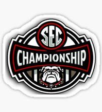 UGA SEC Champions 2017 Sticker
