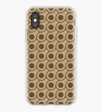 Brown Circle Repeating Pattern iPhone Case