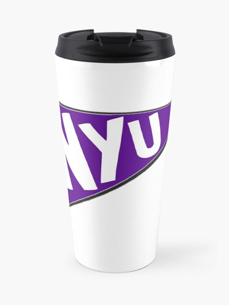 NYU Pennant   Travel Mug