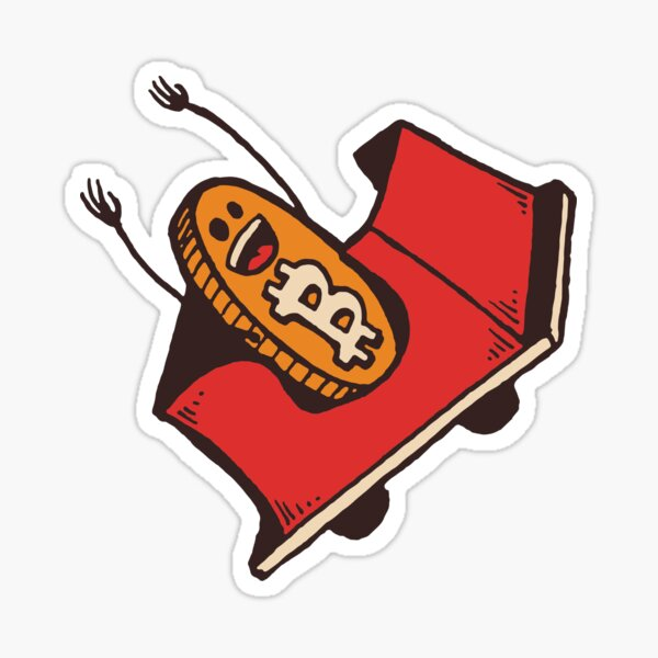 Bitcoin Roller Coaster Sticker