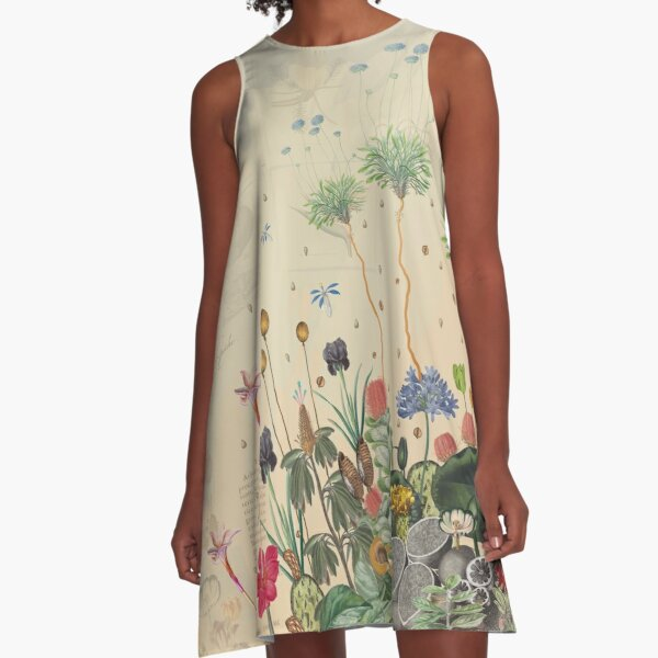FANTASTIC BOTANICAL A-Line Dress