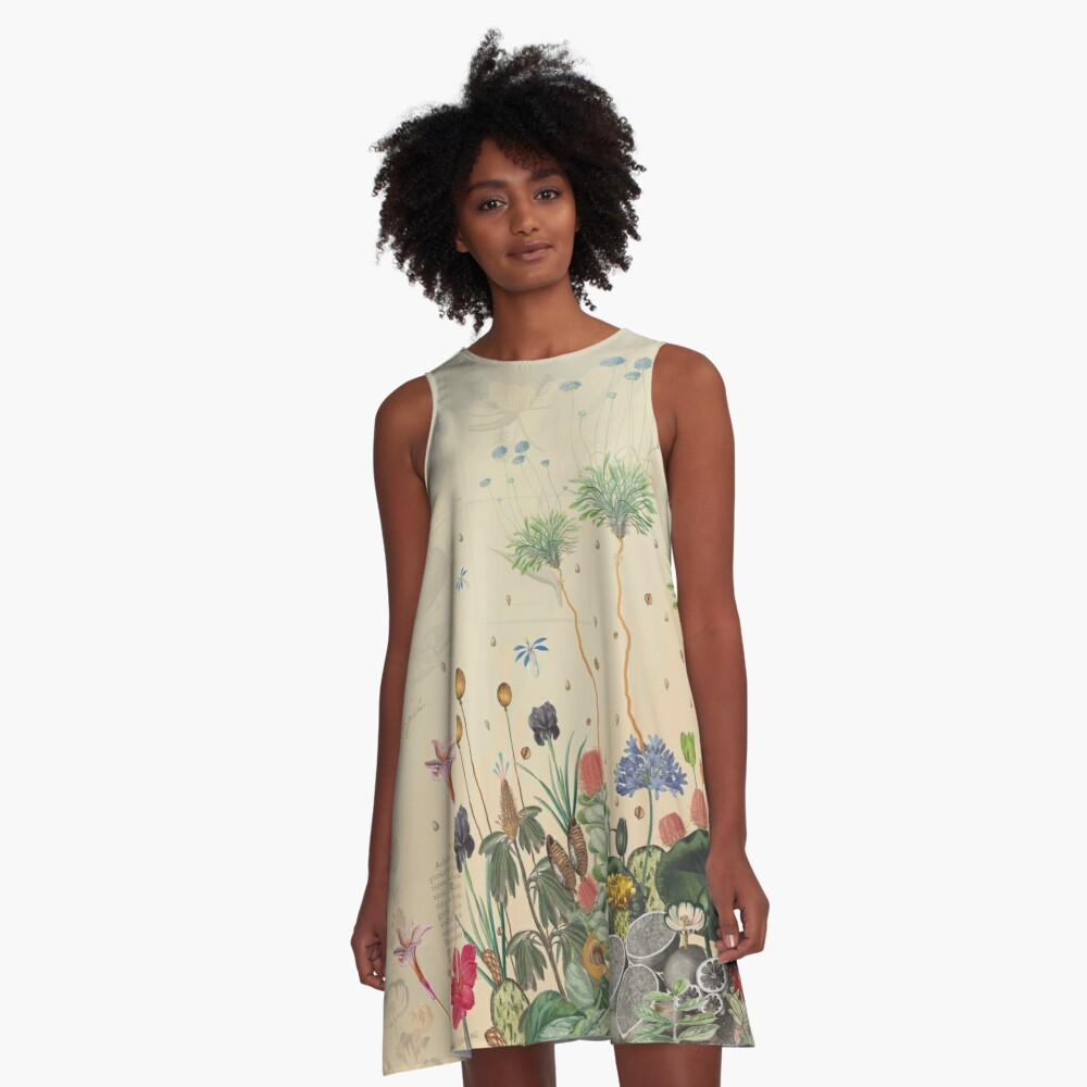 FANTASTIC BOTANICAL A-Line Dress