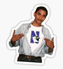 Obama Northwestern Sticker