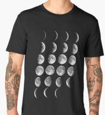 Camiseta premium para hombre Fases de la luna