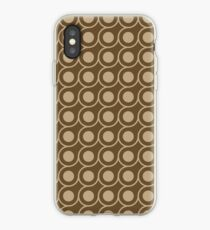 Brown Inverted Circle Pattern iPhone Case