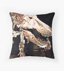 Tyrannosaurus Rex skull Throw Pillow